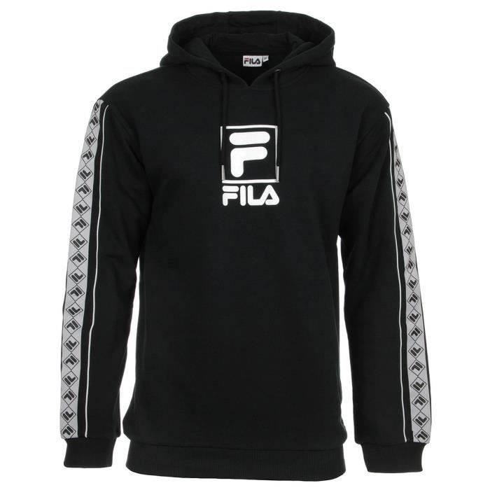 Fila Rangle Hooded Sweat Noir Achat Vente sweatshirt