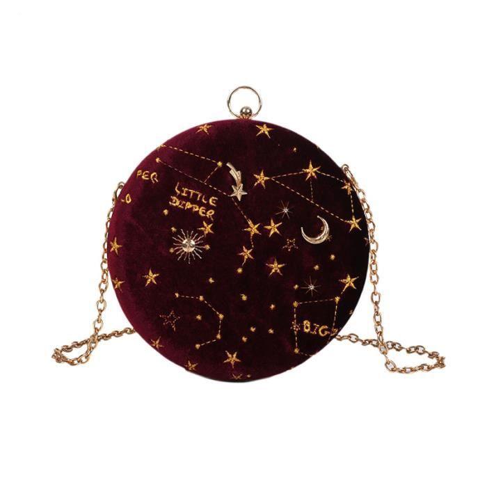SACOCHE Starry Ciel Circulaire De Mode Sac À BandouliÈRe E