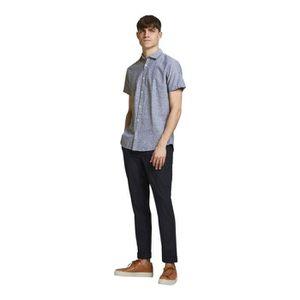 Jack /& Jones Carreaux Homme Chemise à manches courtes-new-Slim Fit-jcmorten 1 poche