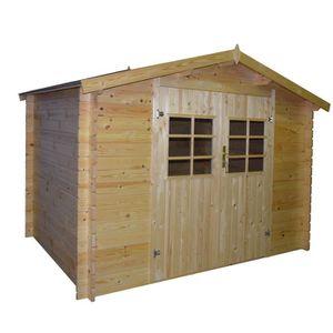 ABRI JARDIN - CHALET Abri de jardin en bois FSC brut - Surface 9,27m²