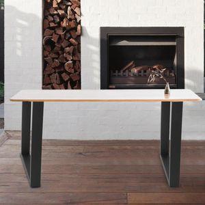 PIED DE TABLE 2PCS Pied de table industriel en acier de supports