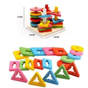 ASSEMBLAGE CONSTRUCTION Formes À Trier et À Empiler Jeu de Tri Puzzle en B