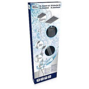 Jocalvi Pommeau de douche avec tuyau Design /él/égant et gradlin/é Tuyau de douche 1,6 m Douchette avec 1 type de jet
