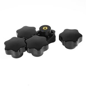 4pcs Serrage de Vis Bouton 48 mm Dia prune Hex Forme Poignées Bouton M8 × filetage 50 mm