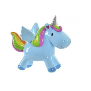 1 TIRELIRE LICORNE CERAMIQUE 20 CM DECORATION UNICORNE