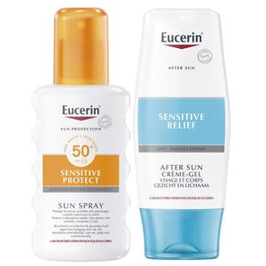 SOLAIRE CORPS VISAGE eucerin sun sensitive protect coffret spray spf50+