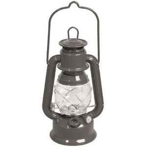 SANDOW - SANGLE Lampe tempête à huile en métal galvanisé - gris -