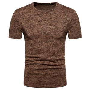 T-SHIRT Tee Shirt Homme élasticité O-Col T-Shirt Manche Co