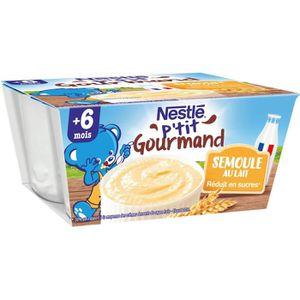 DESSERT LACTÉ NESTLÉ P'tit Gourmand Semoule au Lait - 4x100 g -
