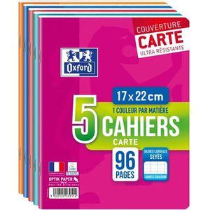 CAHIER OXFORD - Lot de 5 cahiers agrafés 96 pages seyès 1