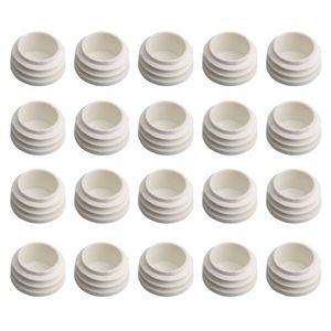 50x Capuchon Noir PVC Doux pour Tubes Ronds Diamètre 6mm Longueur 11mm Stable UV