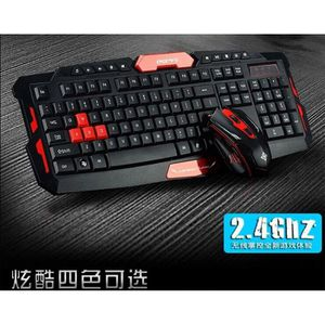 PACK CLAVIER - SOURIS Clavier 2.4G Wireless Mouse Set Soutien Windows 10