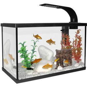 AQUARIUM Aquarium Scalaire 40 Noir 20l + Eclairage Offert