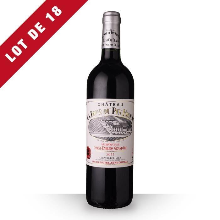 18X Château la Tour du Pin Figeac 2011 Rouge 75cl AOC Saint-Emilion Grand Cru - Vin Rouge