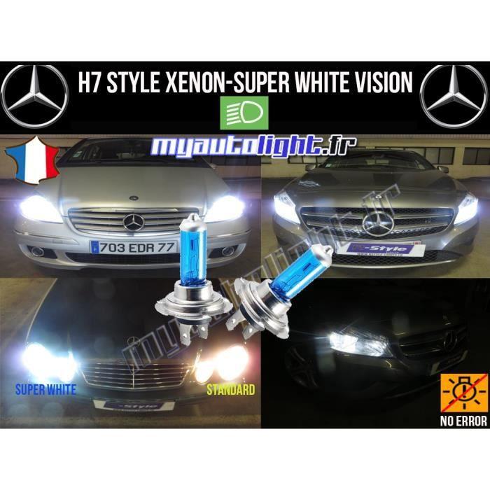 Ampoules H7 Blanc Look Xénon - Mercedes Classe C W203