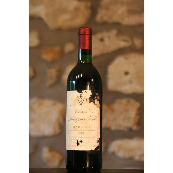 Vin rouge, Château Labegorce Zede 1983 Rouge