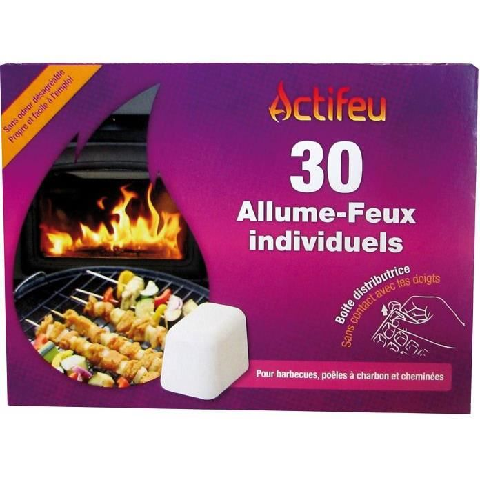 Allume feu sans odeur 30 cubes Actifeu