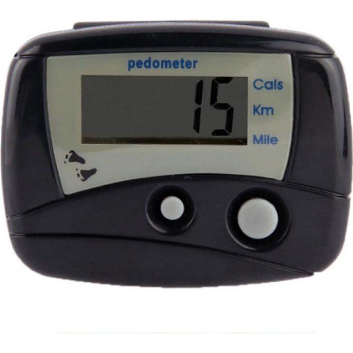 Podometre - Compteur de pas de podomètre électronique multifonction numérique (Noir)