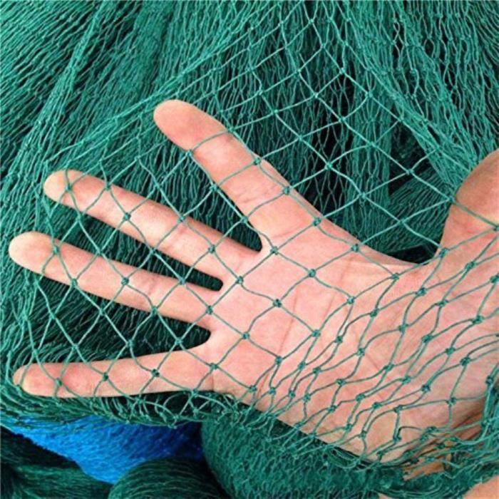 u Filet polyvalent en polyeacutethylegravene Pour jardin espalier volailles anti-oiseaux terrain de tennis, 6 brins W2.4xL9m ver