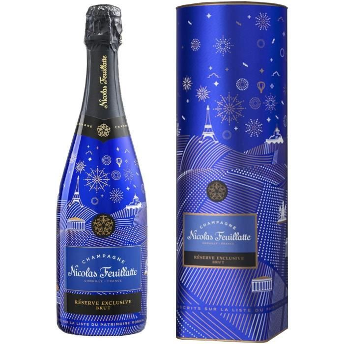 Champagne Nicolas Feuillatte - R&eacuteserve exclusive Brut &eacutedition limit&eacutee-French Impertinence- - Sous coffret c29