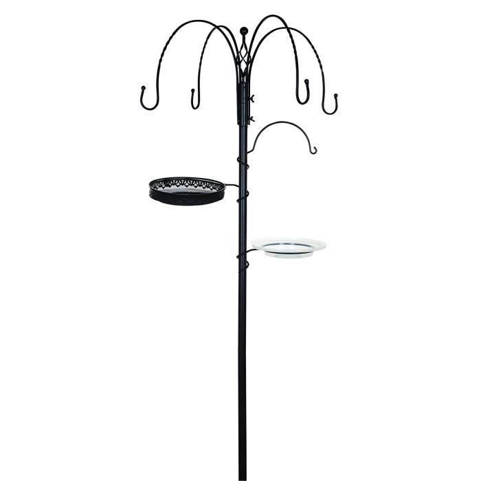 Nichoirs à oiseaux sauvages Gardman A04390 Station d'alimentation décorative, Noir, 6,5x32x78 cm 264575