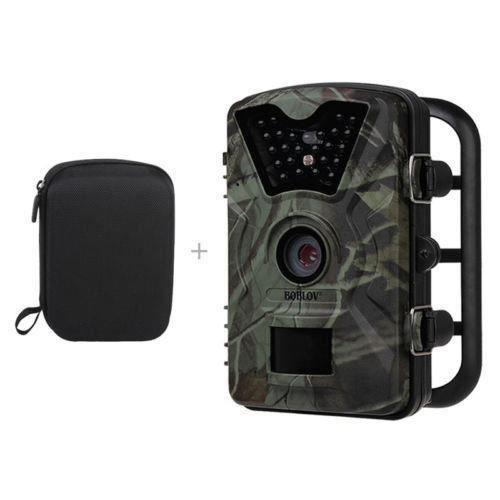 Boblov CT008 Caméra de chasse Infrarouge étanche LED de Vision Nocturne 12MP PIR Observation de la vie 1080P HD avec un Sac