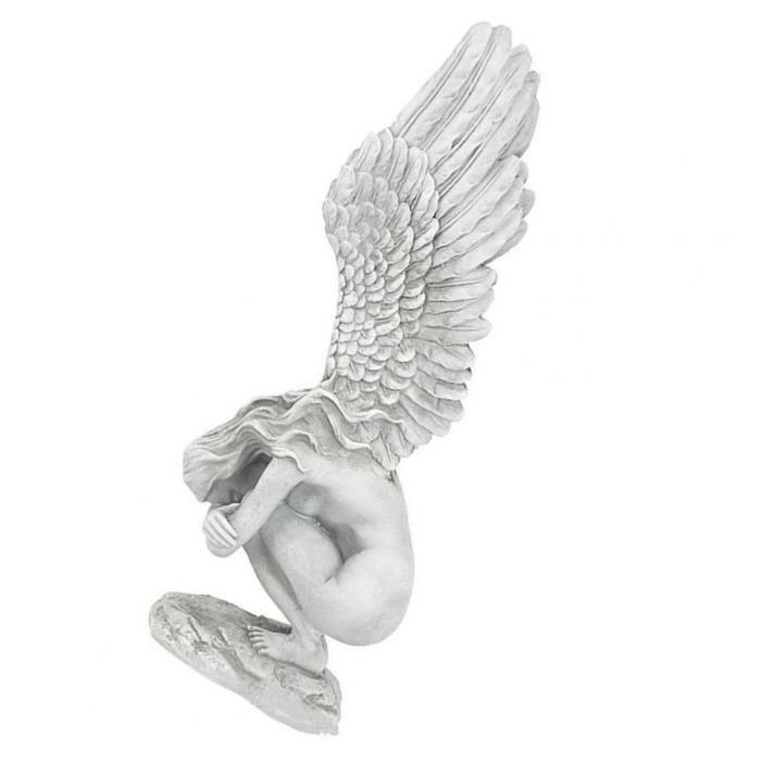 Statue d'ange Ange Sculpture Redemption Statue Résine pour Présentoir Salon de jardin cadeau S