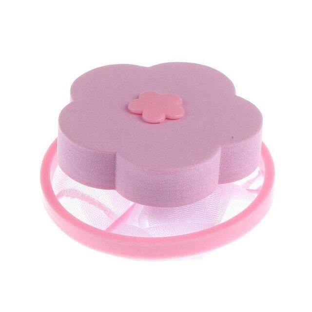 Filet De Lavage,Machine à laver filtre maille sac blanchisserie boule disque collecteur de fibres dépilateur filtre à - Type Rose