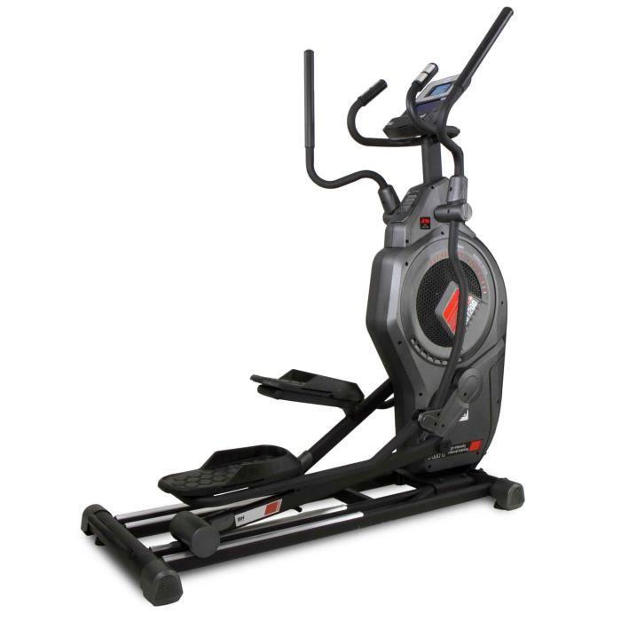 BH Fitness Vélo elliptique CROSS1200 G875 - Systéme inertiel mixte Aire + Magnétique - Foulée de 53 cm - Semipro - Programmes HIIT