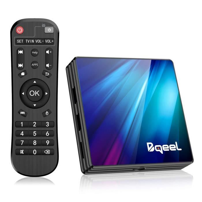 Bqeel Android 9.0 【4G+64G】 TV Box Bluetooth 4.0 R1 Plus RK3318 Quad-Core 64bit Cortex-A53 USB 3.0 Box Android TV LAN100M Wi-FI