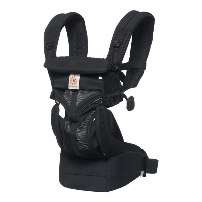 echarpe de portage Porte bébé OMNI 360 Cool air noir onyx