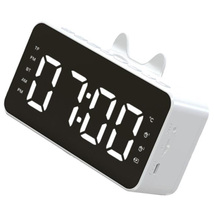 Afficommé LED Réveil Numérique Radio Am / Multifonctionnelle de Haut-Parleur radio reveil lecteur musique