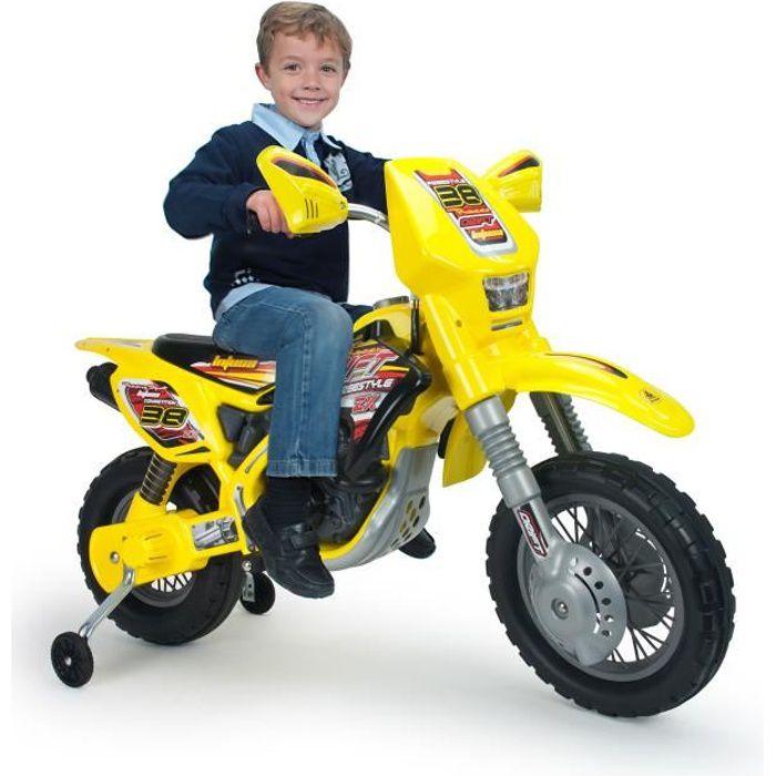 INJUSA Moto électrique enfant Cross Drift Zx 12 volts Avec Stabilisateurs