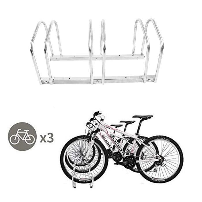 JEOBEST® Râteliers Multi-supports à vélos - 70,5x33x33,7cm pour 3 vélos - Économie de l'espace