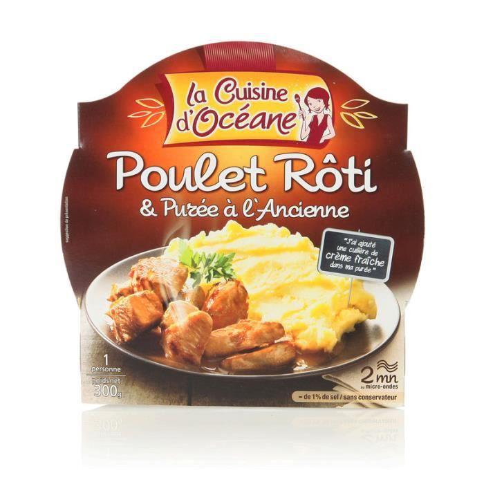 Poulet rôti et purée à l'ancienne 300 g La Cuisine D'Océane