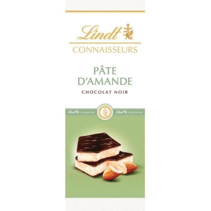 Lindt Connaisseurs Pâte d'Amande Chocolat Noir 120g (lot de 10)