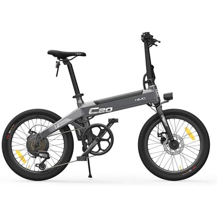 Nouveau Xiaomi HIMO C20 vélo électrique Pliant 250W moteur E Bike 25 km / h E vélo extérieur 80KM kilométrage pneu de 20 pouces