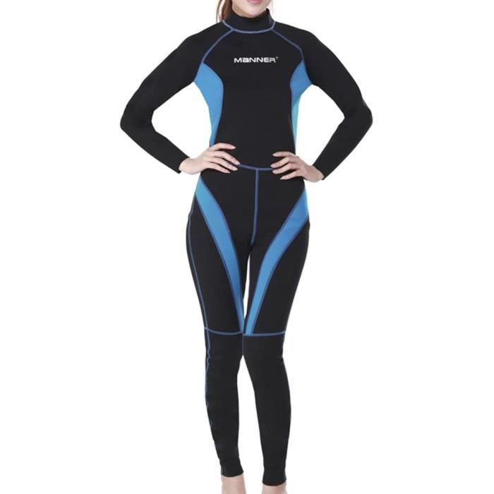 1.5mm Femme Manches Longues Mouillé Type Plongée Suit Combinaison de Plongée S