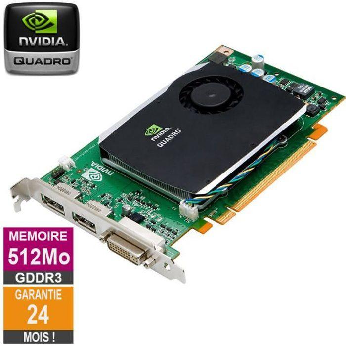 Carte graphique Nvidia Quadro Fx 580 512Mo Gddr3 Pci e Dvi Displayport