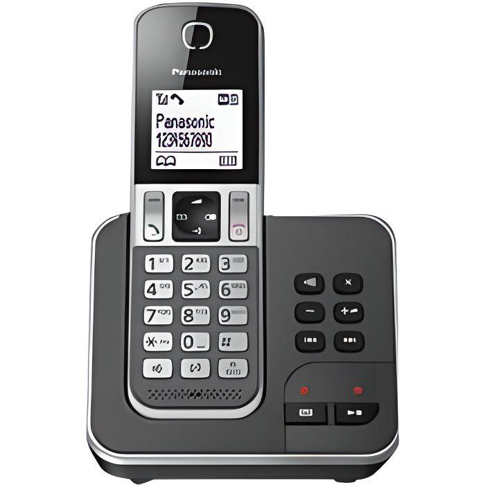 Panasonic KX-TGD320FRG Solo Téléphone Sans Fil Répondeur Noir