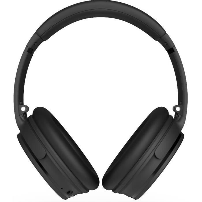 R-MUSIC KOL Casque Sans Fil Bluetooth - Réduction de bruit active - 10h d'autonomie - Kit mains libres - Pliable et Rotatif - Noir