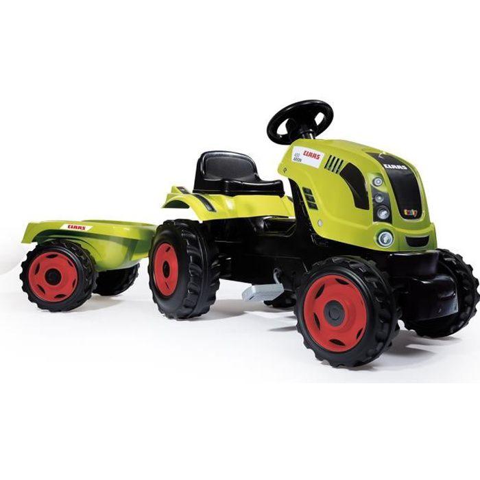 SMOBY CLAAS Tracteur à pédales Farmer XL + Remorque