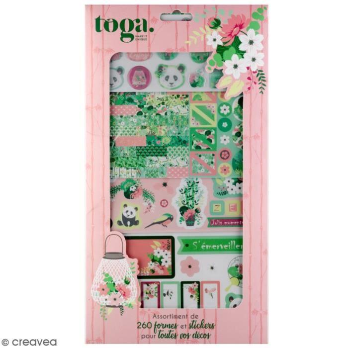 Kit Scrapbooking Formes et Stickers - Kyoto - 260 pcs