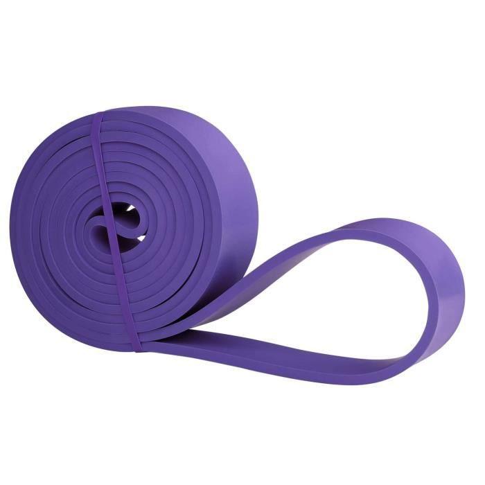 Résistance Élastique pour Fitness, Crossfit, Musculation, Yoga, Pilates - Violet