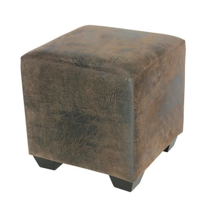 pouf repose pied living brun myco00066 achat vente pouf poire cdiscount. Black Bedroom Furniture Sets. Home Design Ideas