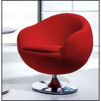 fauteuil design ball rouge achat vente fauteuil rouge cdiscount. Black Bedroom Furniture Sets. Home Design Ideas