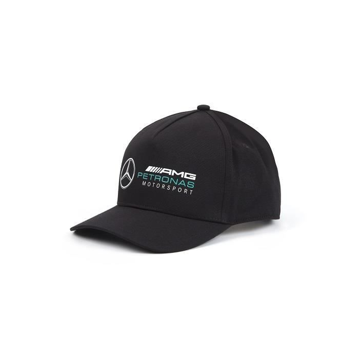 Mercedes Casquette AMG Petronas 2018 pour supporter noire avec broderie noire