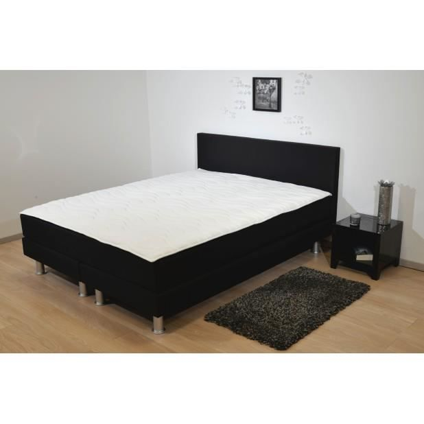 boxspring chiara 160x200 achat vente ensemble literie cdiscount. Black Bedroom Furniture Sets. Home Design Ideas