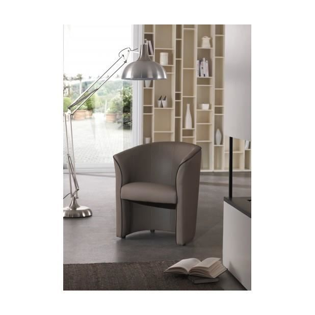 Fauteuil cabriolet pvc taupe choco achat vente fauteuil gris soldes c - Fauteuil cabriolet taupe ...
