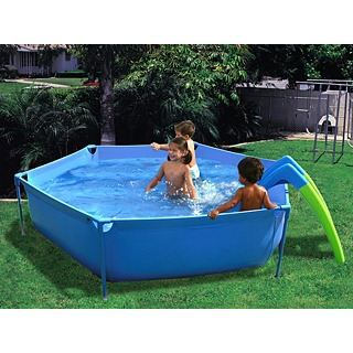 piscine hors sol enfant toboggan ronde x achat vente pataugeoire cdiscount. Black Bedroom Furniture Sets. Home Design Ideas